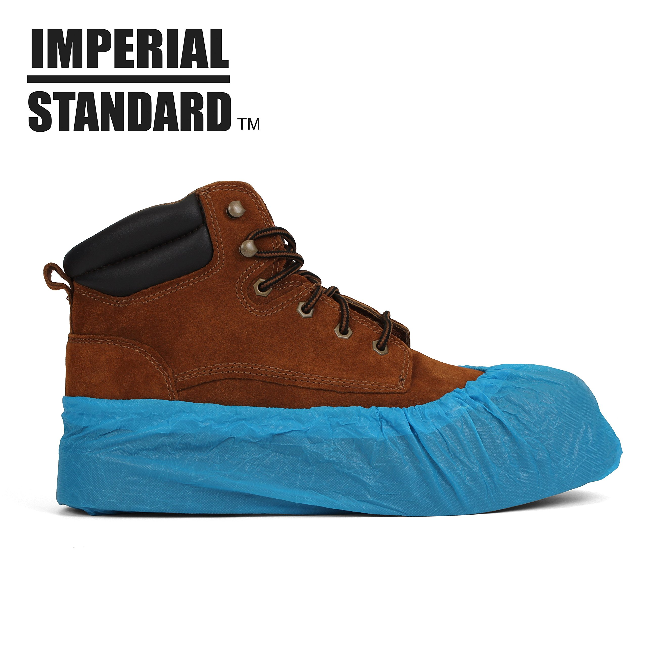 Waterproof Boot Covers for Professionals - XL Disposable Shoe Covers - Non-Slip Waterproof Shoe Protectors - Fits up to Size 13 Work Boot and Size 14 Shoe - (100 pack) by Imperial Standard (Image #1)