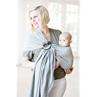 Moby Ring Sling Baby Carrier (Silver Streak) - Ring Sling Carrier For Babywearing...