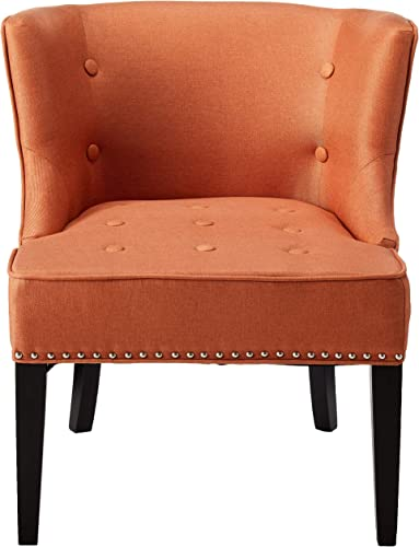 Christopher Knight Home Adelina Fabric Occaisional Chair, Orange