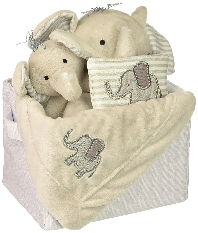 Amazon.com: Bebé Aspen Poco Cacahuete elefante 5 piezas Set ...