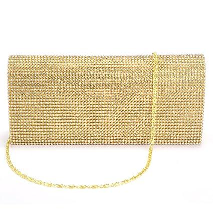 Leather Varnish Rabat Set Evening Bag Purse Wallet With Rhinestones For Women Girl Gold Women's Bags Shoulder Bags