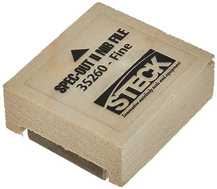 Steck Manufacturing 35260 spec-out II pintura punta archivo con dientes finos