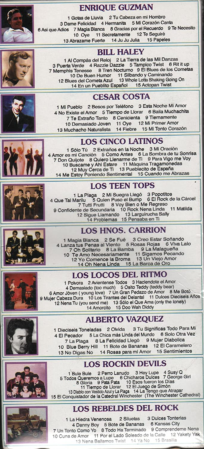 ENRIQUE GUZMAN, LOS REBELDES DEL ROCK, BILL HALEY, CESAR COSTA, LOS CINCO LATINOS, LOS TEEN TOPS, LOS HNOS.CARRION, LOS LOCOS DEL RITMO, ALBERTO VAZQUEZ, ...