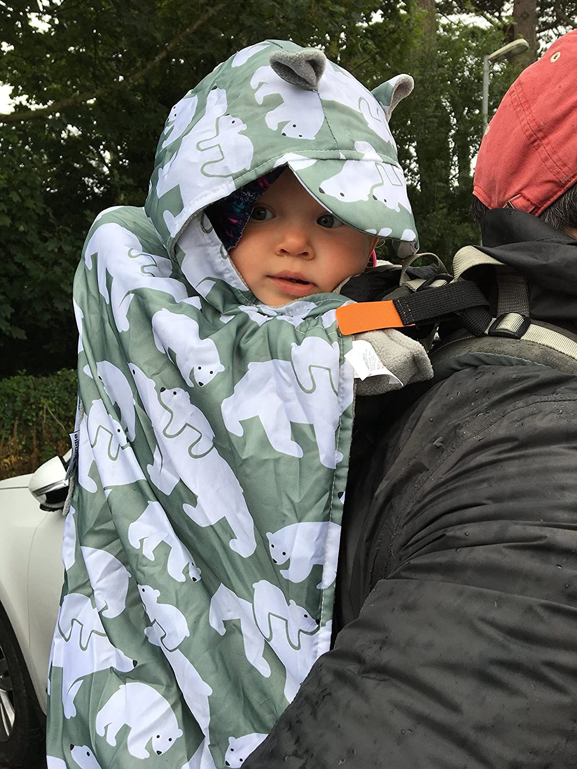 Bundlebean Babywearing: all-weather impermeabile Sling e vettore di sage-grey Polar Bears