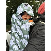 BundleBean Babywearing:All-Weather Waterproof Sling and Carrier Cover (Sage Grey Polar Bear)