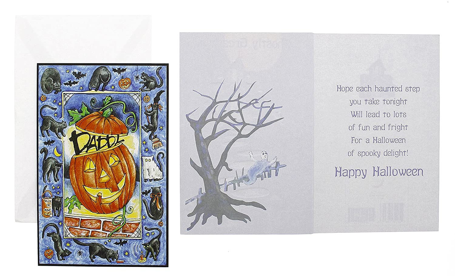 Amazon Com Halloween Card Assortment 50 Pack Greeting Cards With