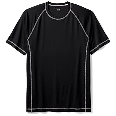 Amazon Essentials Men's Short-Sleeve Quick-Dry UPF 50 Swim Tee: Clothing