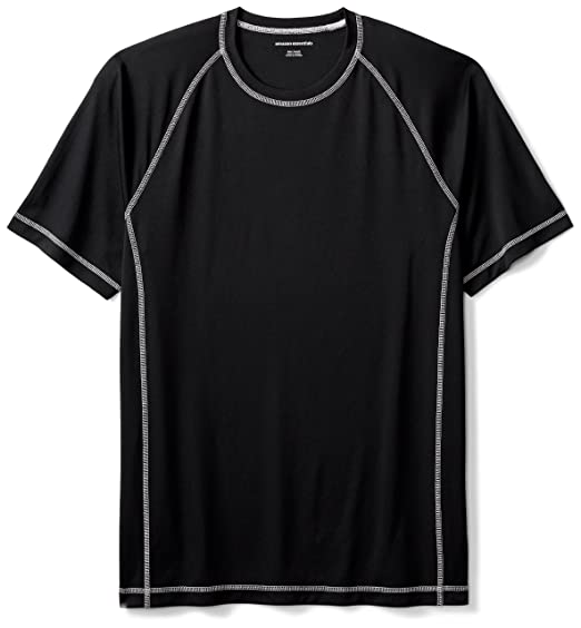 14a689321a9d5 Amazon Essentials Men's Short-Sleeve Quick-Dry UPF 50 Swim Tee