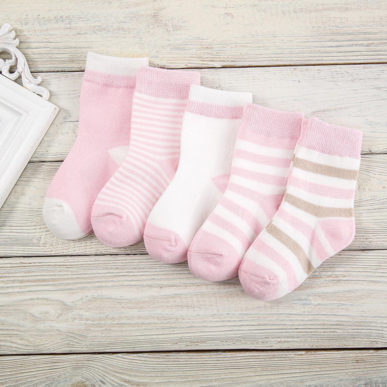 B/éb/é Camilife /À Rayures Chaussette 0 /à 24 mois rose bonbon 3 mois fille