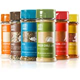The Fit Cook Spice and Seasoning Set: Gluten & Grain Free, Vegan & Keto Friendly Spice Kit - 6 Health-conscious Hand…