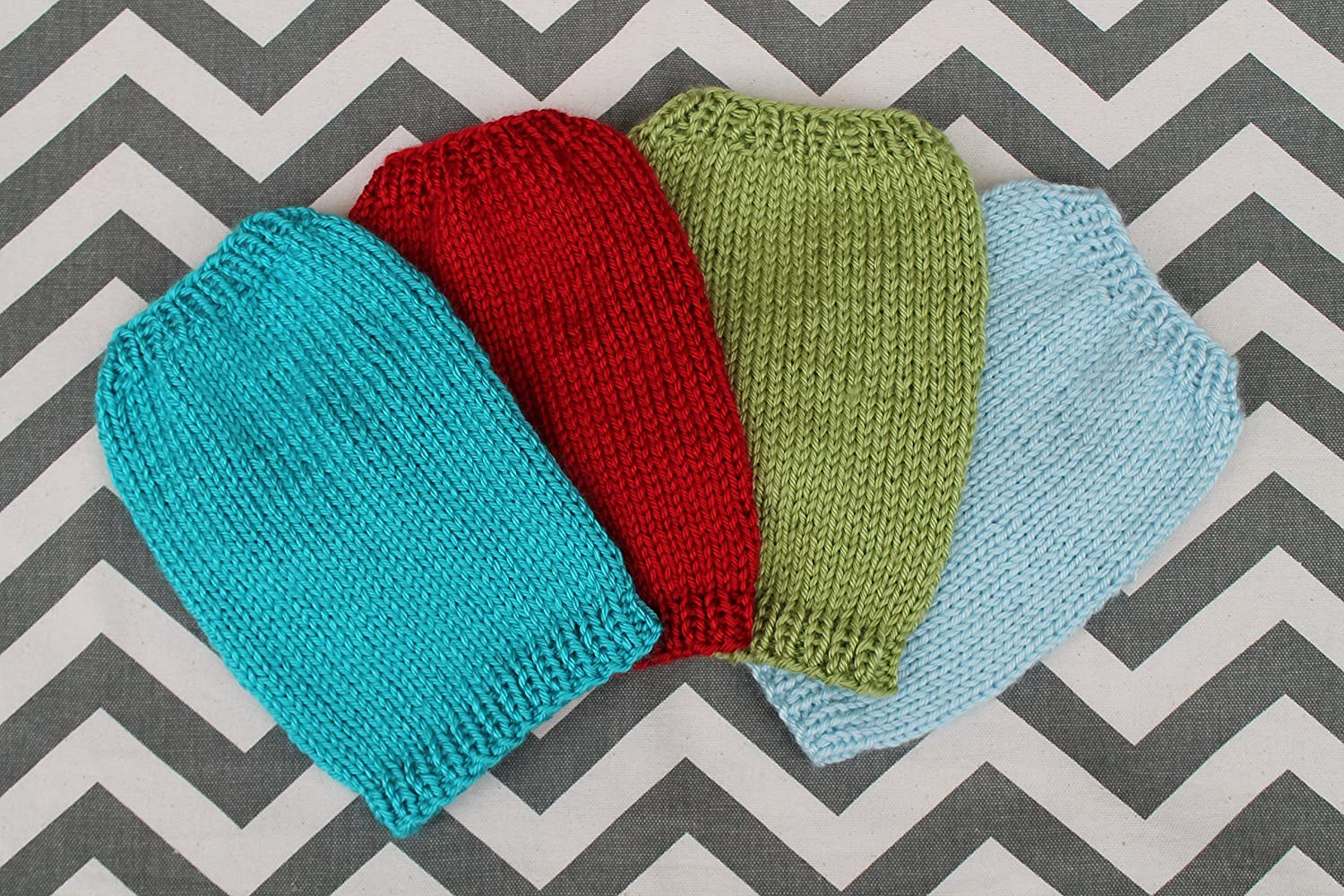 Tiny Hand Knit Dog/Puppy Sweater for 2 Lbs XXXS/XXS for Chihuahua Yorkie Maltese Pomeranian Teacup Puppies in Red Green Light Blue Turquoise