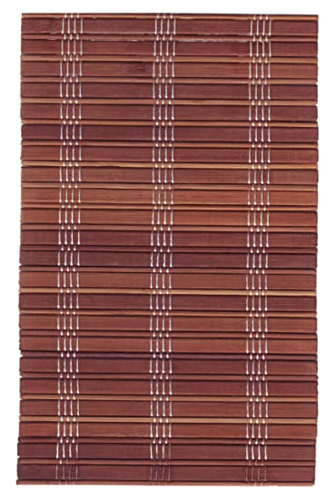 Buy Flora Bamboo Roll Up Blind Brown 48 X 60 Online At Low Prices In India Amazon In