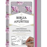 Rvr 1960 Biblia de Apuntes, Gris y Floreado, Tela Impresa