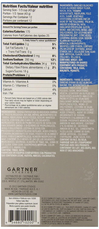 Amazon.com : Duff Goldman by Gartner Studios Cake Mix, Yellow, 1lb.-.2oz (Pack of 3) : Grocery & Gourmet Food