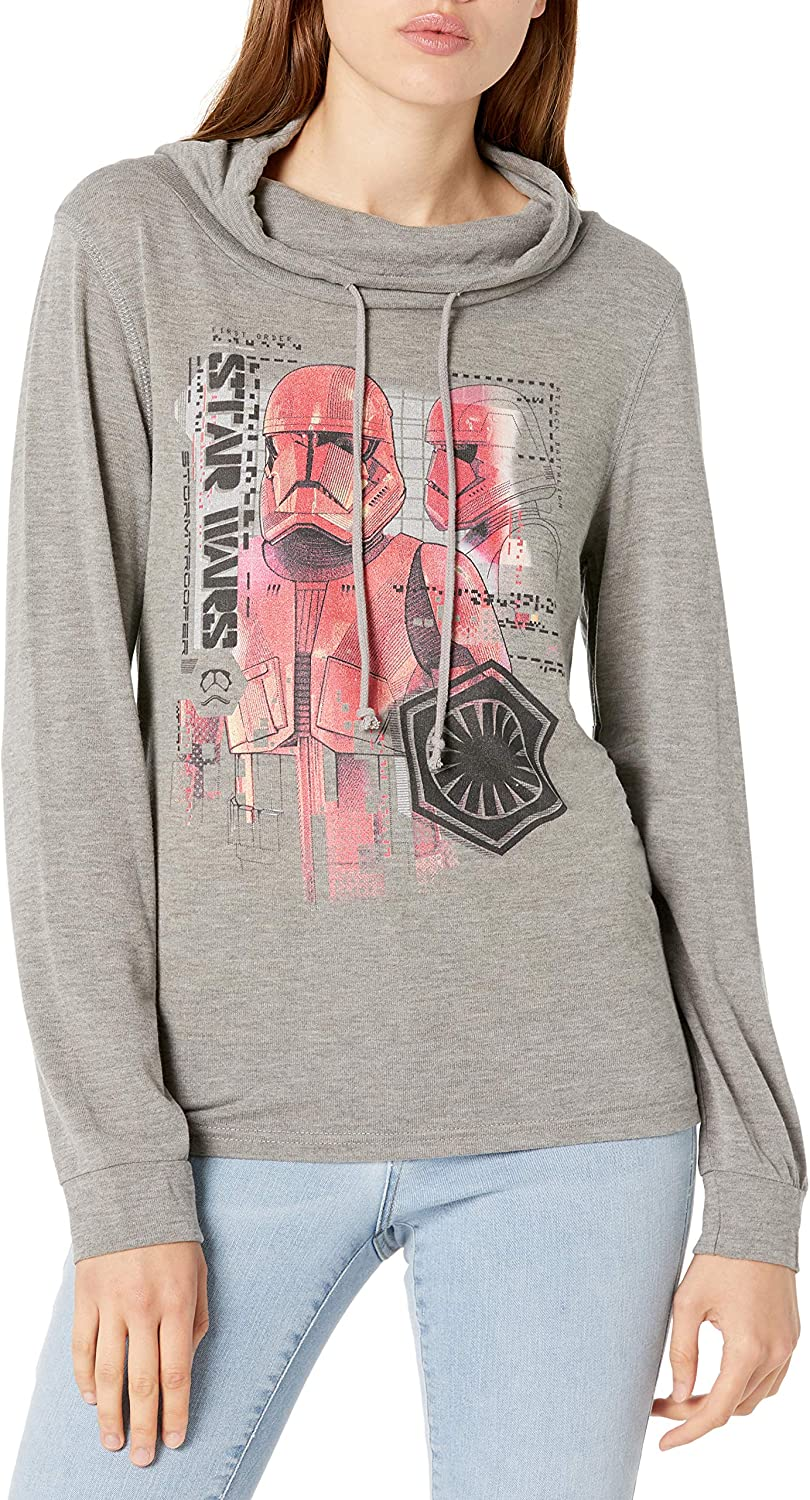 Star Wars Womens Long Sleeve Cowl Neck Pullover
