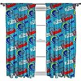 Disney CARS 3 Lightning Curtain Set Multi Colour 72 Inch