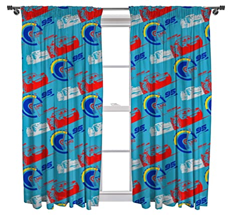 Cars 3 Lightning Curtains   72 Inch