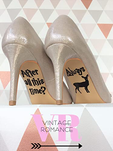 Harry Potter Disney Wedding Day Shoe Sole Vinyl Sticker Decal