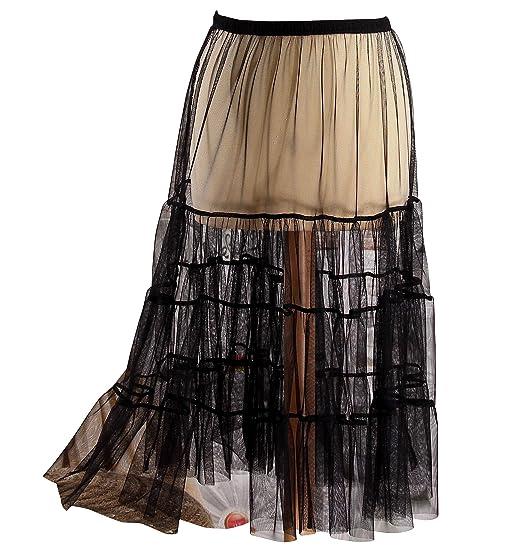 a3c17dd42f900e Charleselie94® - Jupe Grande Taille Tulle Volants Noir LOUANE Noir ...