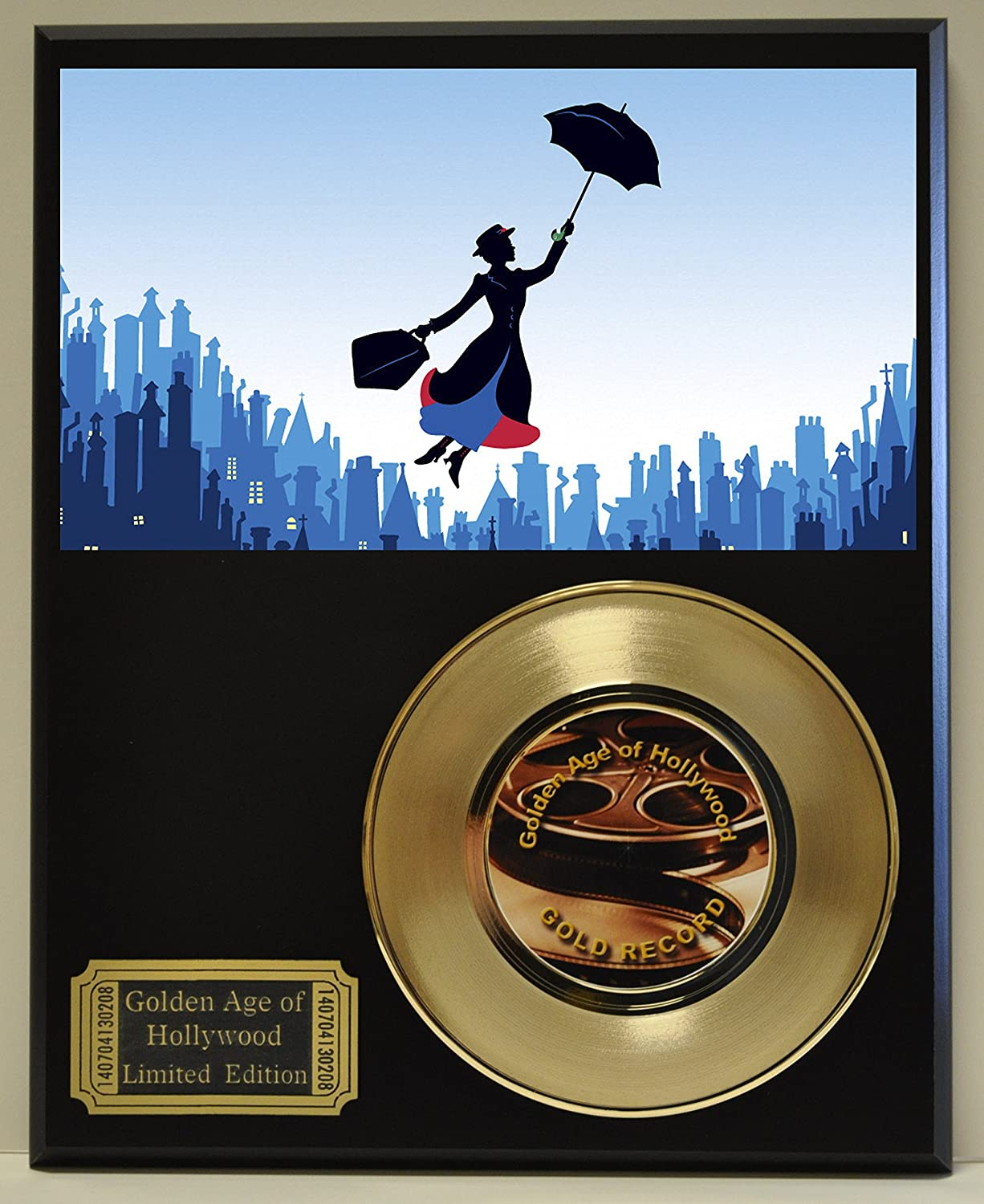 Mary Poppins Limited Edition Gold 45 Record Display. Only 500 made. Limited quanities. FREE US SHIPPING Classic Rock Collectibles