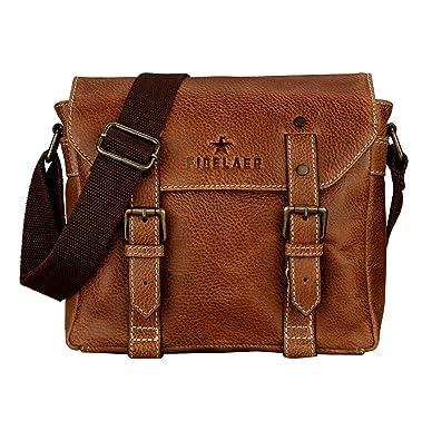 108464aa43d2 Image Unavailable. Image not available for. Color  Finelaer Men Vintage  Brown Leather Crossbody Shoulder Bag