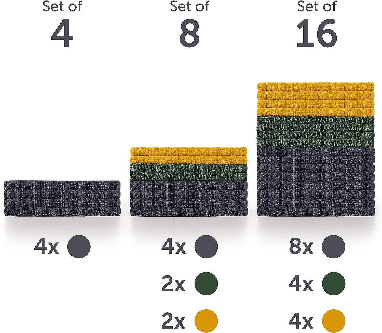 Blumtal 4er Set Mikrofasertücher Geschirrtücher Schonendes Microfasertuch Ohne Fusseln Autopflege Poliertuch 360 Gsm Geschirrhandtücher 45 X 65cm Küche Haushalt