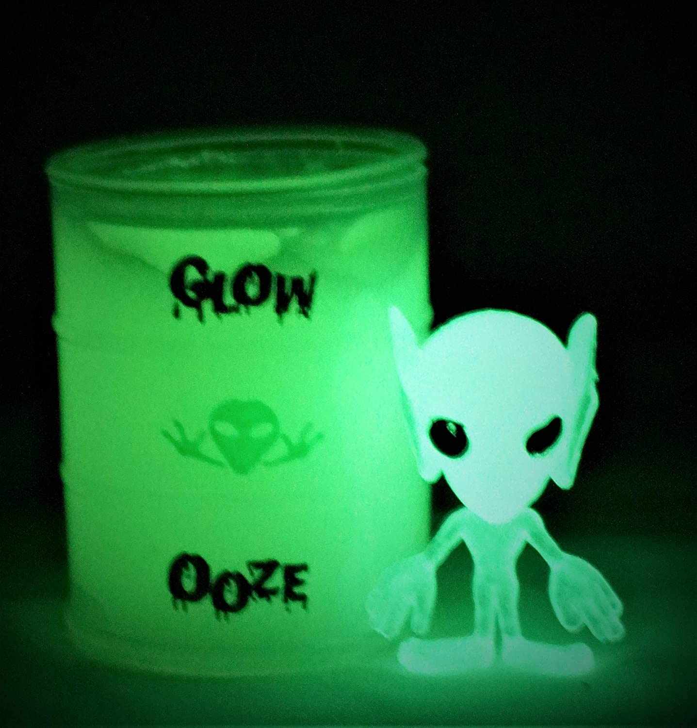 Item #5574-1p Jaru JA-RU Alien Glow in The Dark Slime and a Bouncy Ball Ooze with a Extraterrestrial Inside
