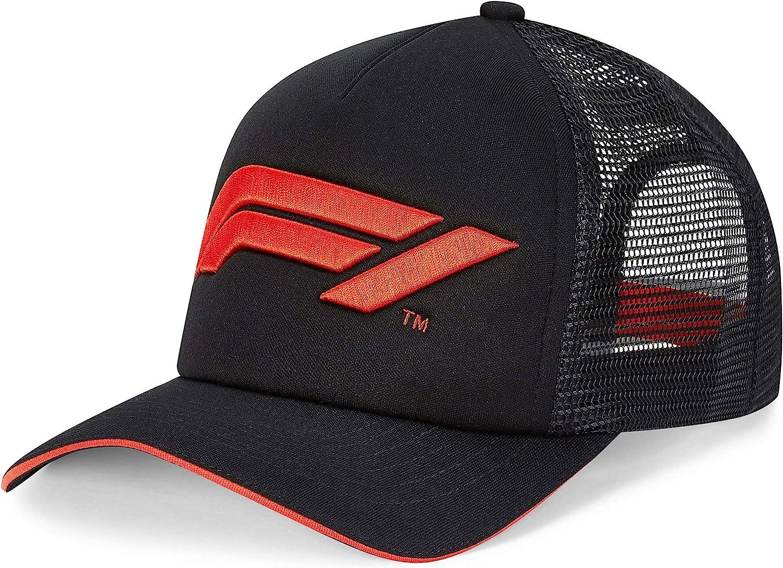Formula 1 Tech Collection F1 Large Logo Trucker Hat Black