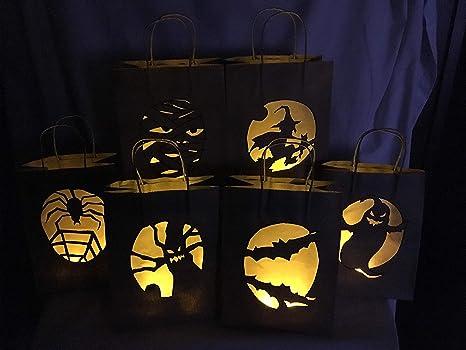 Día de los muertos bolsas para velas - 12 Ct: Amazon.es: Hogar