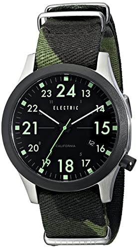 Electric Mens EW0010020038 FW01 Nato Stainless Steel Watch with Camo Band