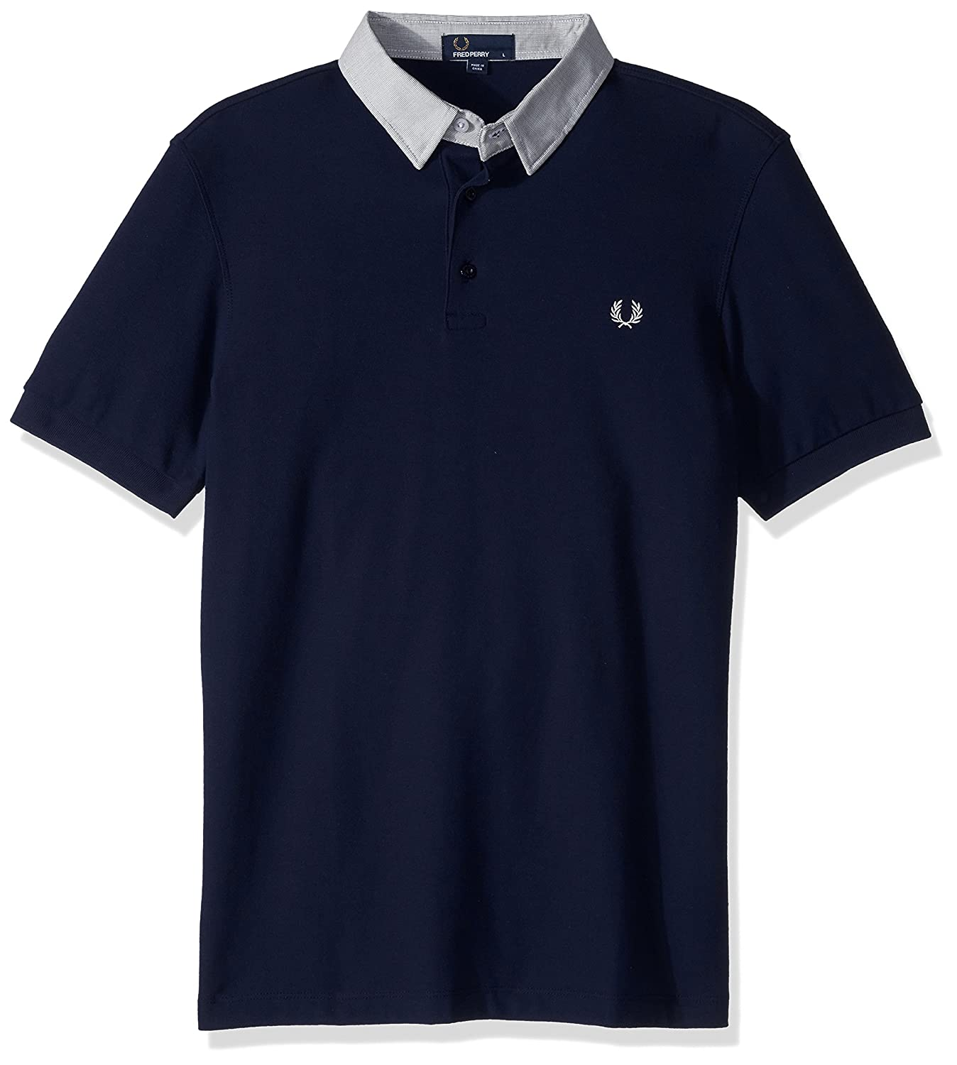 Fred Perry Mens Microsquare Collar Pique Shirt