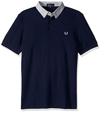 64a0d4db0 Amazon.com  Fred Perry Men s Microsquare Collar Pique Shirt  Clothing