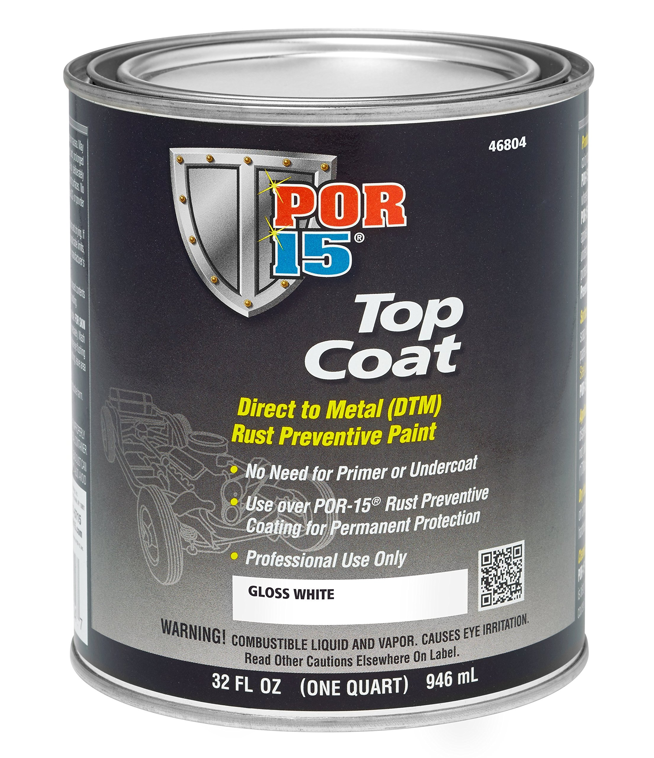 POR-15 46804 Top Coat Gloss White Paint 32. Fluid_Ounces