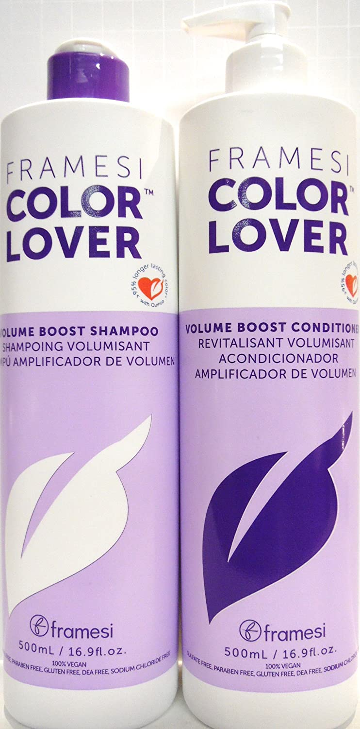 Amazon.com : Framesi Color Lover Volume Boost Shampoo and Conditioner Duo - 16.9 Ounce each Bottle : Beauty