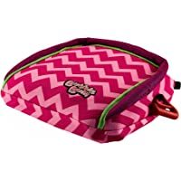 BubbleBum Inflatable Backless Booster Car Seat, Pink Chevron