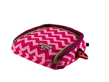 BubbleBum Inflatable Backless Booster Car Seat Pink Chevron