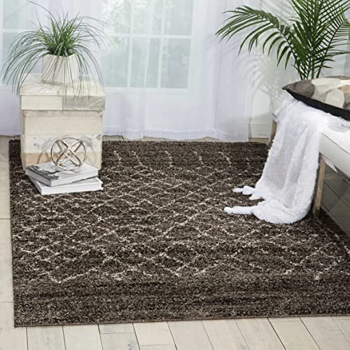 Nourison Tangier TAN05 Charcoal Rectangle Area Rug, 8-Feet by 10-Feet 8 x 10