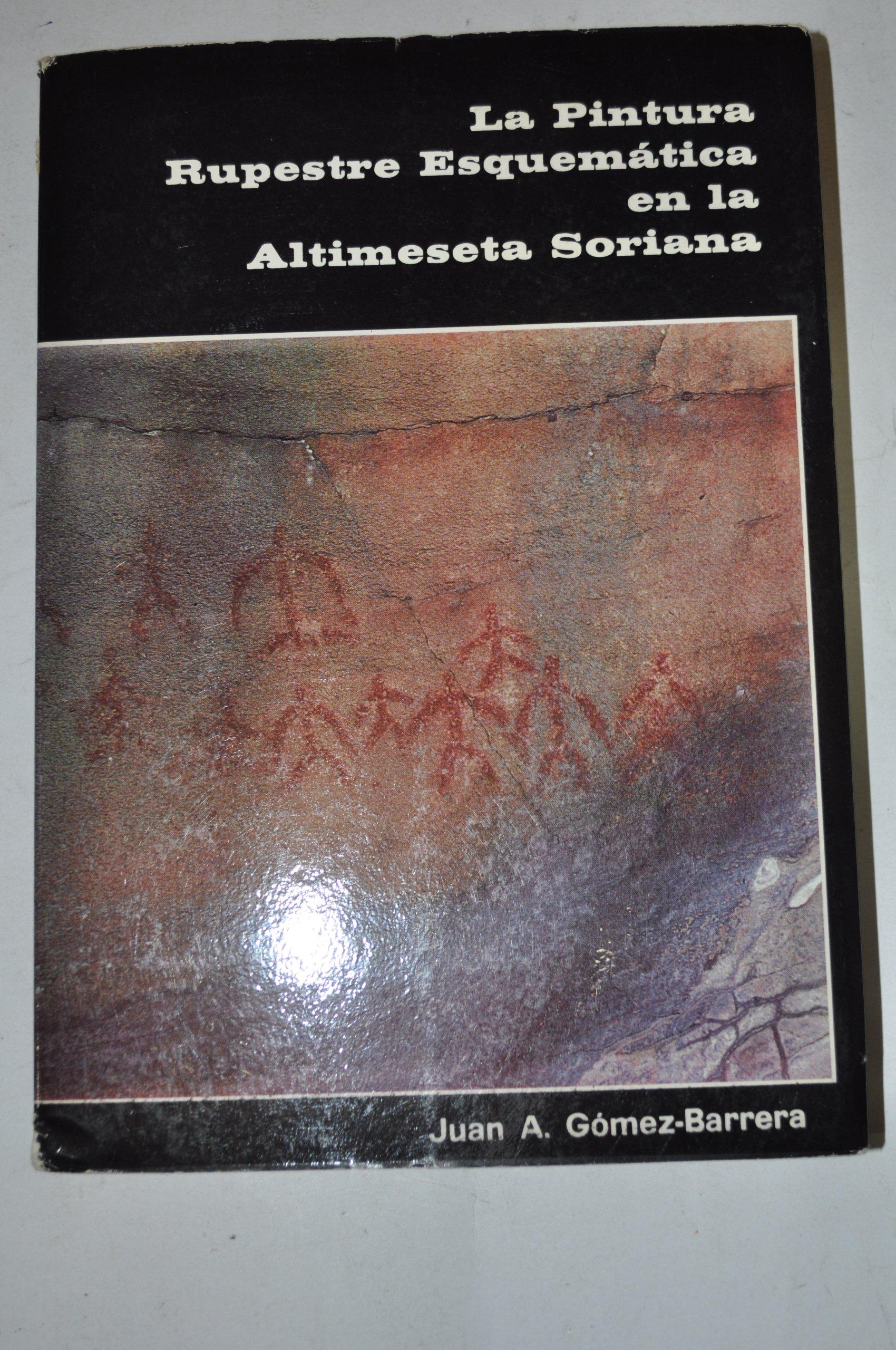 La pintura rupestre esquematica en la altimeseta soriana (Publicaciones del Excmo. Ayuntamiento de Soria) Unknown Binding – 1982