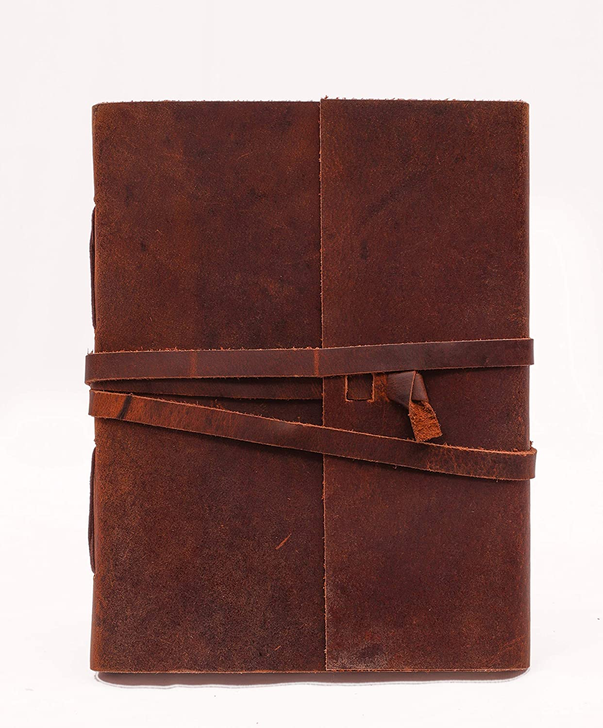 Leather Journal for Men & Women, Leather Blank Book, Poetry Journal, Unlined Journal Notebooks & Journals to Write in for Women, Mens Journal Leather Bound Writing Notebook (6x8 in)