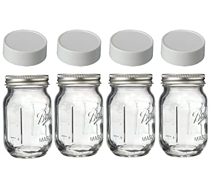 Amazoncom Mini Mason Spice Jars With Plastic Storage Lid 4oz