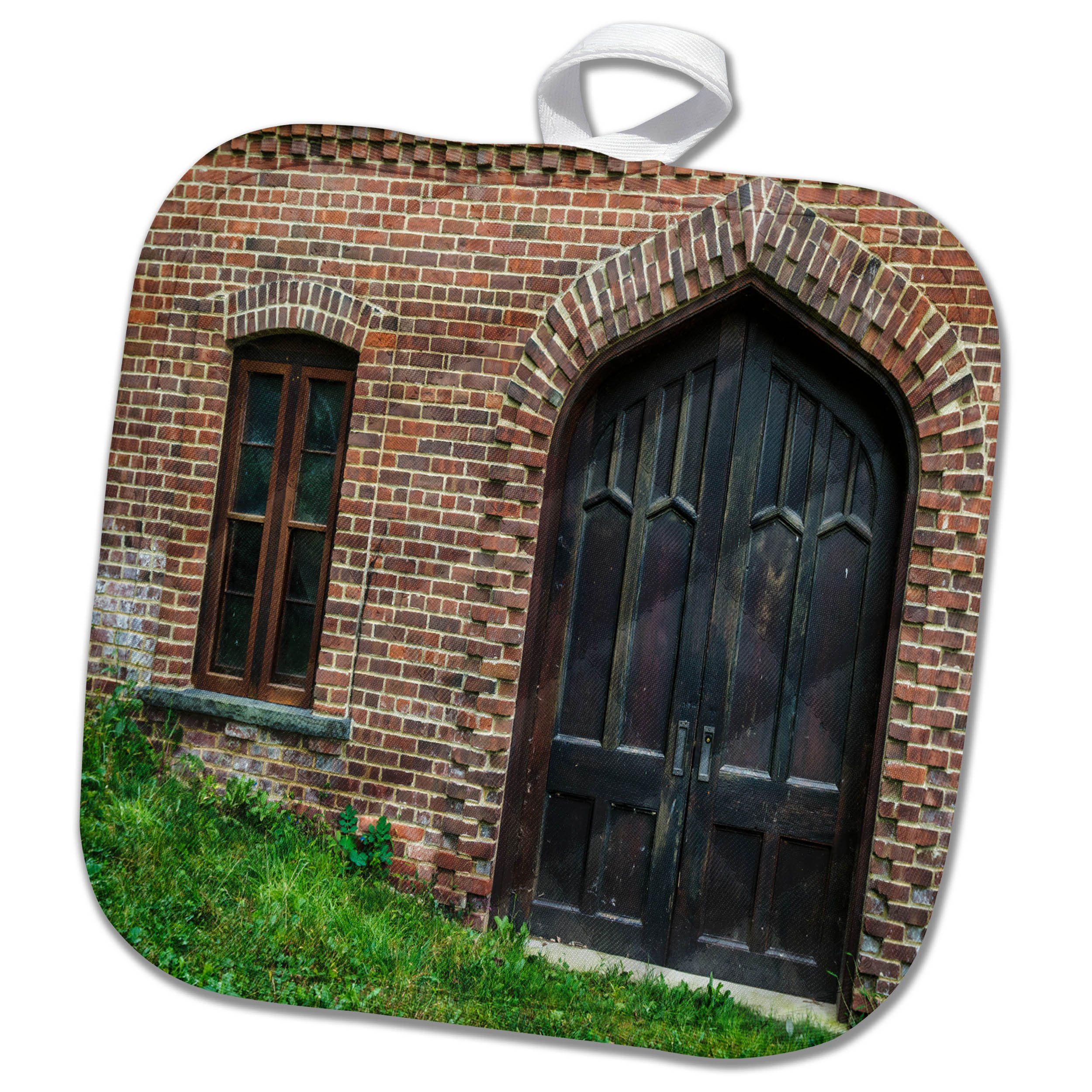 3dRose Roni Chastain Photography - Window and Door - 8x8 Potholder (phl_269609_1)