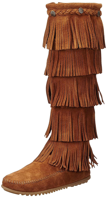 Minnetonka 1652 - Botas de cuero para mujer42 EU|Marrß鲁n (Braun (Brown))