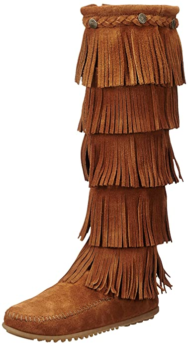 Minnetonka 5 Layer Fringe Boot 1652, Damen Amazon Mokassin Stiefel  Amazon Damen ... 2cb386
