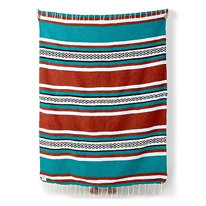 Mexican Serape Blanket By Laguna Beach Textile Co
