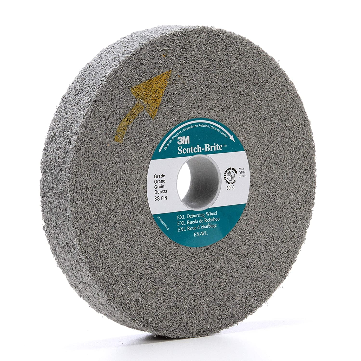 Pack of 60 22100 RPM Abrasive Grit Scotch-Brite 13984 Cut and Polish Unitized Wheel 2 Diameter 2 x 1//8 x 1//4 5A FIN