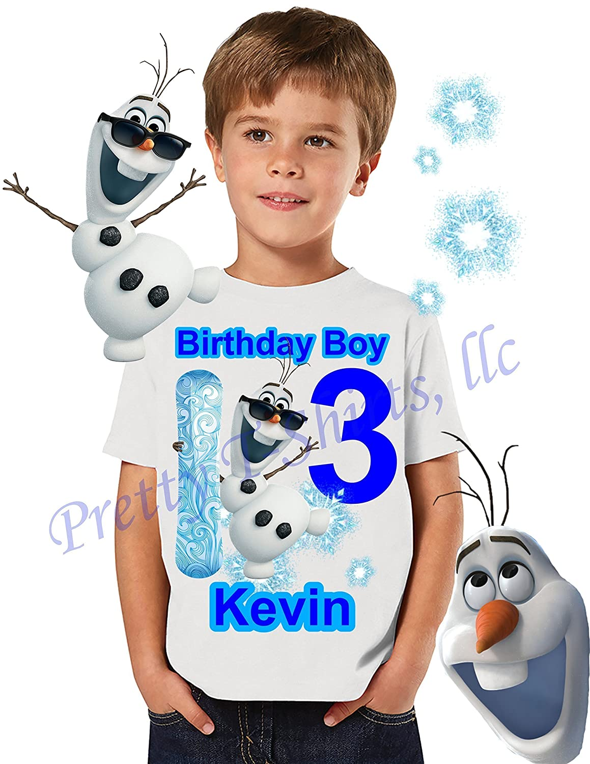 Frozen Birthday Shirt, Add ANY name and ANY age, Frozen Birthday BOY Shirt, Birthday Shirt Party Favor, OLAF Birthday Shirt, Birthday BOY Shirt, Boy Frozen Shirt, Frozen, Olaf, VISIT OUR SHOP!!
