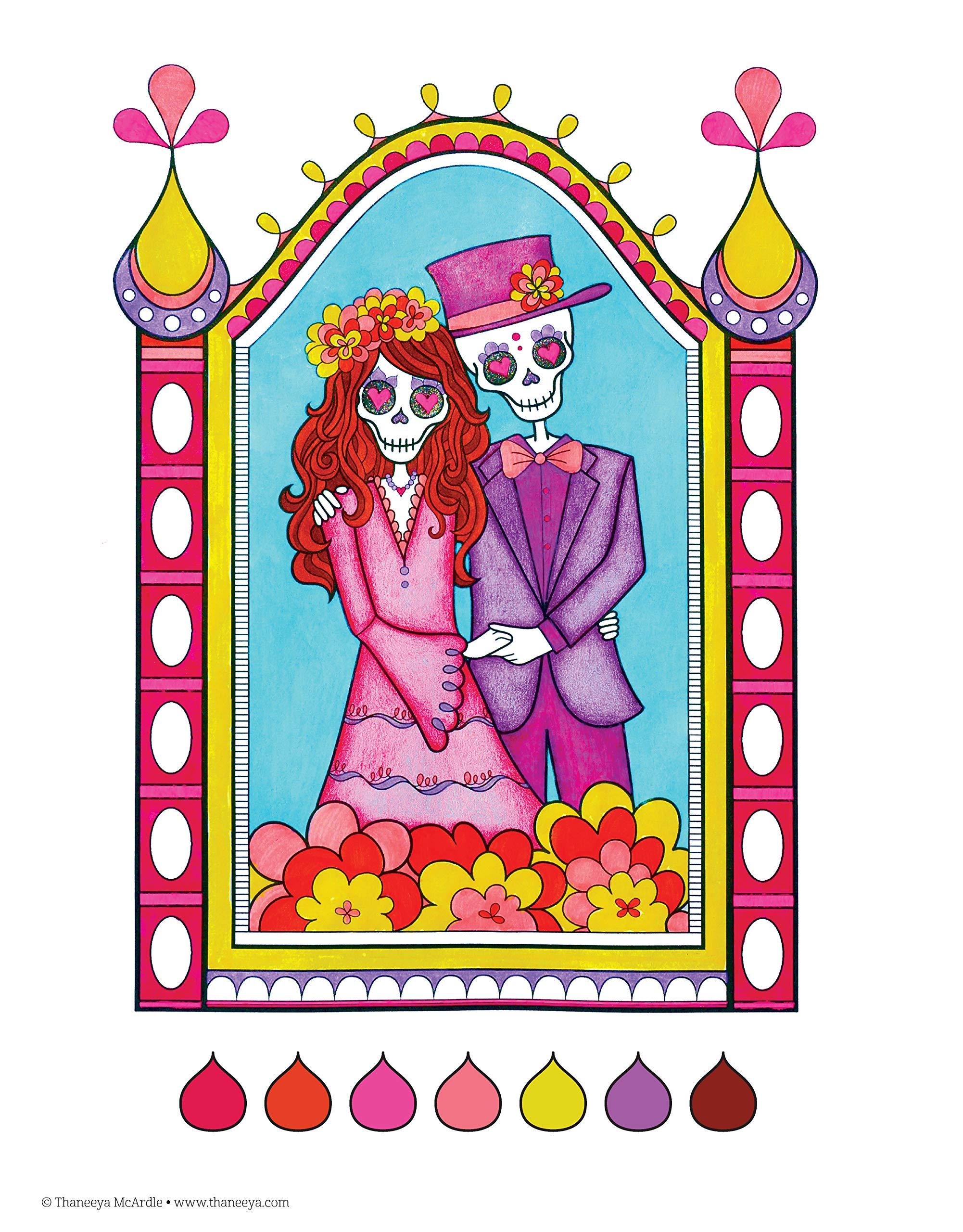 Day of the Dead Coloring Book (Coloring Is Fun): Amazon.es: Thaneeya McArdle: Libros en idiomas extranjeros