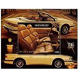 Oldtimer-Briefmarken für Sammler - Maserati - ein super Stempel - Ideal für Briefmarkensammeln - Post