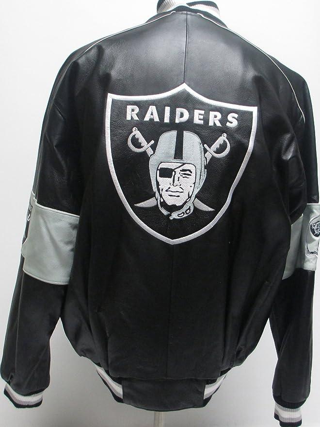 G-III Sports Oakland Raiders Chaqueta de Piel, Raiders ...