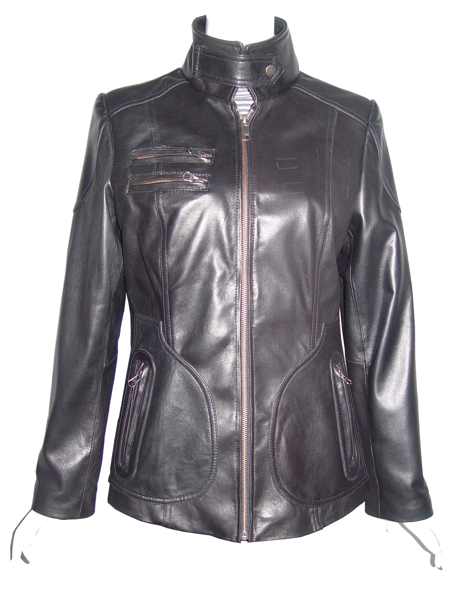 Nettailor Big Women Tall PLUS & ALL SIZE 4084 Lamb Leather Motorcycle Casual Jacket